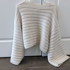 Topshop cream sweater